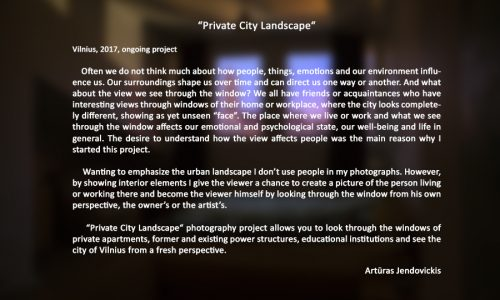 Arturas Jendovickis, private city landscape, photography project, Vilnius, Lithuania, artist