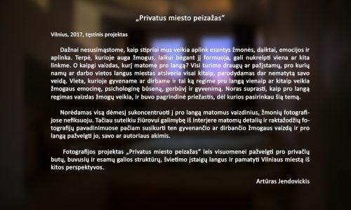 Arturas Jendovickis, privatus miesto peizazas, fotografijos projektas, Vilnius, lietuva, menininkas,